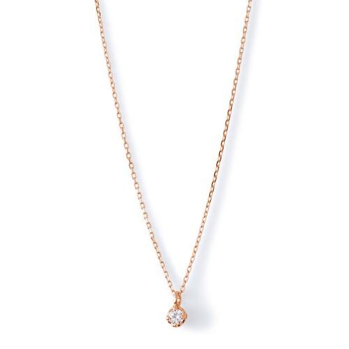ピンクゴールド ネックレス K-N453…