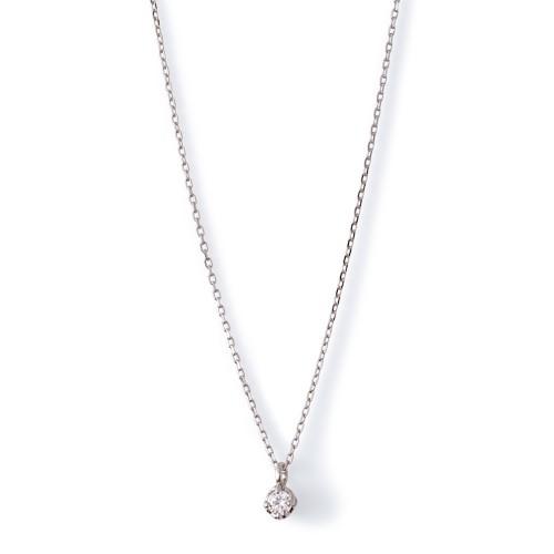ホワイトゴールド ネックレス K-N45…