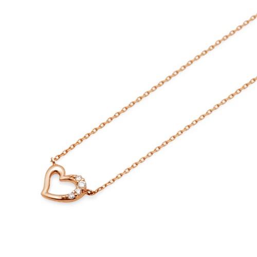 ピンクゴールド ネックレス K-N450…