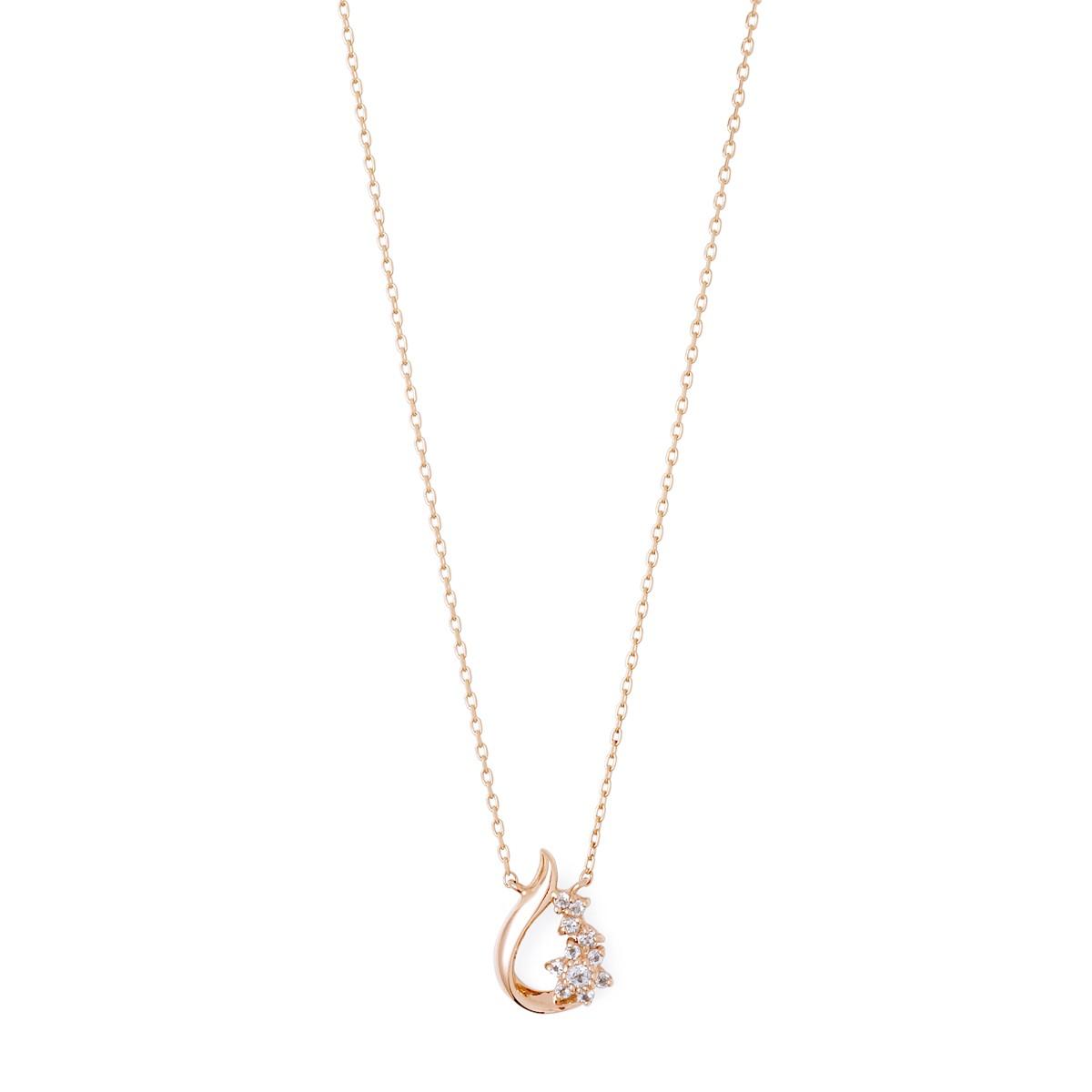 ピンクゴールド ネックレス K-N222…