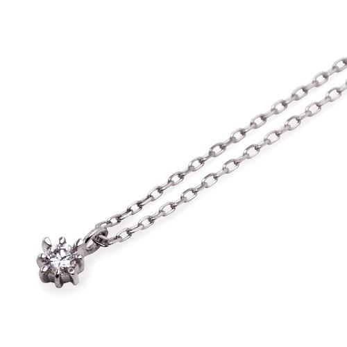 ホワイトゴールド ネックレス K-N2203WG