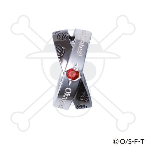 ONE PIECE 麦わらの一味 ルフィ ブラックVer. シルバー ペンダントトップ OPT-01BK-RB