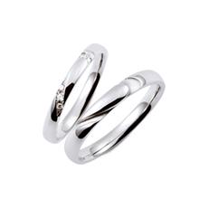 【Duet】 プラチナ950 ダイヤモンド マリッジリング ペアリング