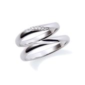 【Flow】 プラチナ950 ダイヤモンド マリッジリング ペアリング