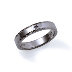 ブラックダイヤモンド ブラックコーティング シルバー メンズ リング