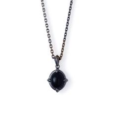 オニキス ブラックコーティング シルバー メンズ ネックレス