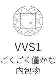 VVS1 ごくごく僅かな内包物