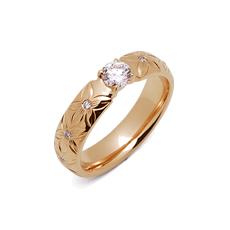 カローラ K14 イエローゴールド ハワイアン ダイヤモンド エンゲージリング