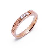 クヒオ K14 ピンクゴールド ハワイアン ダイヤモンド リング