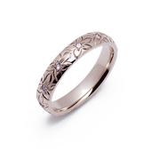 リリハ K14 ホワイトゴールド ハワイアン ダイヤモンド リング