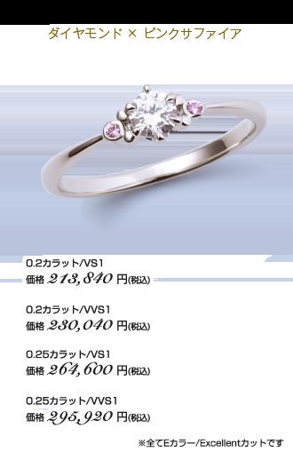 ダイヤモンド×ピンクサファイア