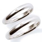 【Precious Silver】 シンプル ダイヤモンド シルバー ペアリング
