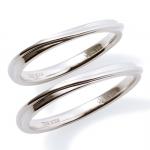 【Precious Silver】 シンプル ユニセックス シルバー ペアリング
