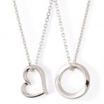 【Precious Silver】シンプル シルバー ペアネックレス